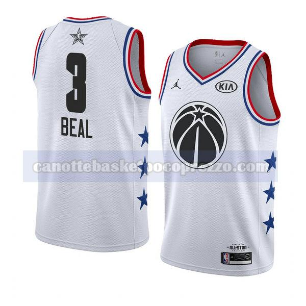 canotte all star 2019 uomo Bradley Beal 3 bianco