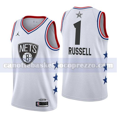 canotte all star 2019 uomo Dangelo Russell 1 bianco