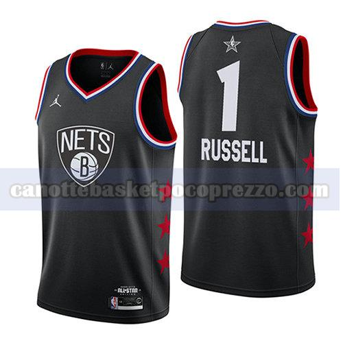 canotte all star 2019 uomo Dangelo Russell 1 nero