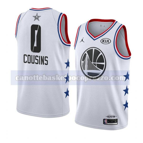 canotte all star 2019 uomo Demarcus Cousins 0 bianco