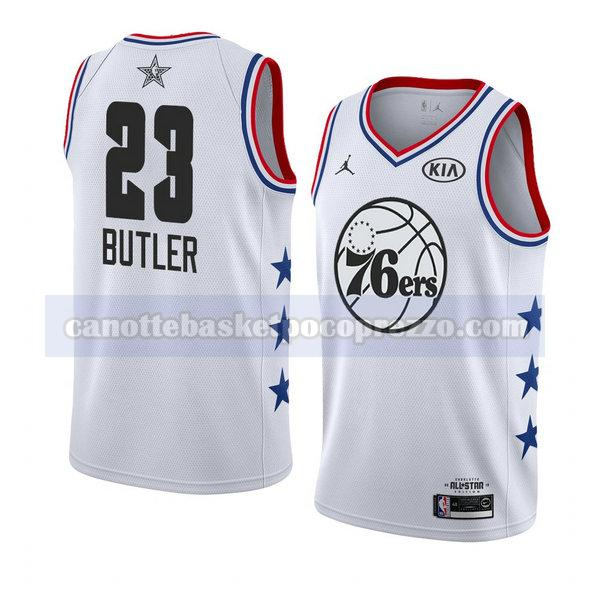 canotte all star 2019 uomo Jimmy Butler 23 bianco