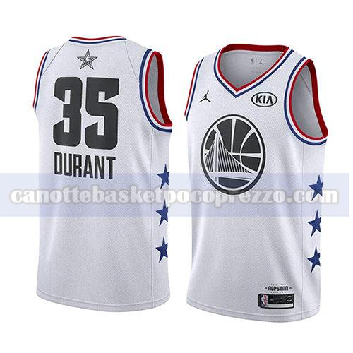 canotte all star 2019 uomo Kevin Durant 35 bianco