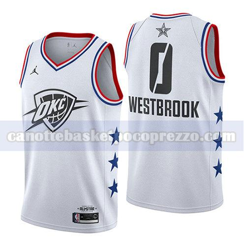 canotte all star 2019 uomo Russell Westbrook 0 bianco