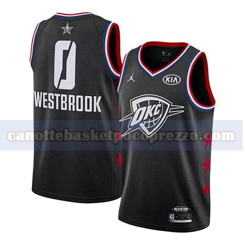 canotte all star 2019 uomo Russell Westbrook 0 nero
