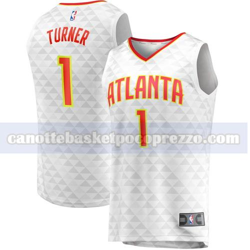 canotte atlanta hawks uomo association edition Evan Turner 1 bianco