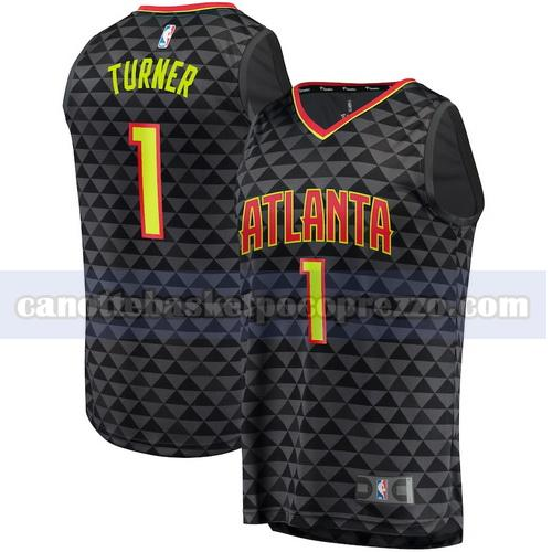 canotte atlanta hawks uomo icon edition Evan Turner 1 nero