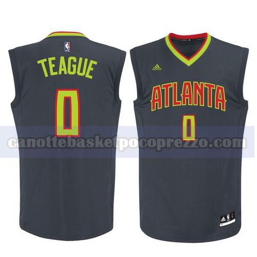 canotte atlanta hawks uomo replica Jeff Teague 0 nero
