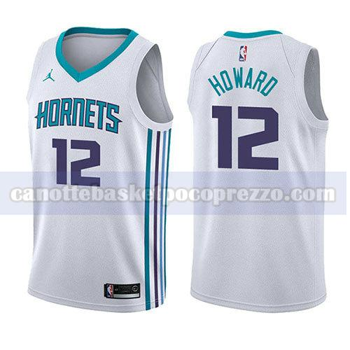 canotte charlotte hornets uomo associazione 2017-18 Dwight Howard 12 bianco