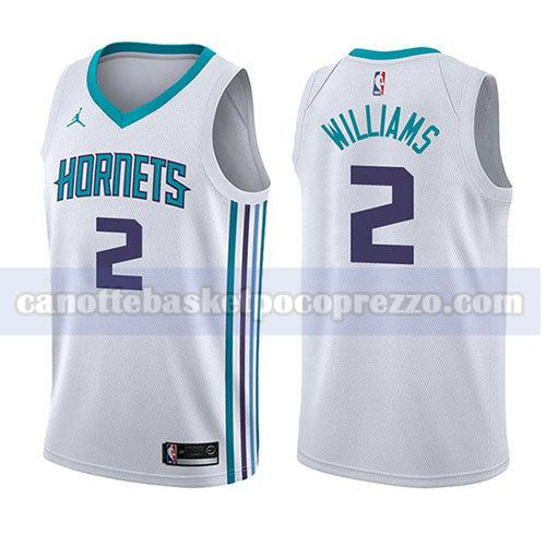 canotte charlotte hornets uomo associazione 2017-18 Marvin Williams 2 bianco