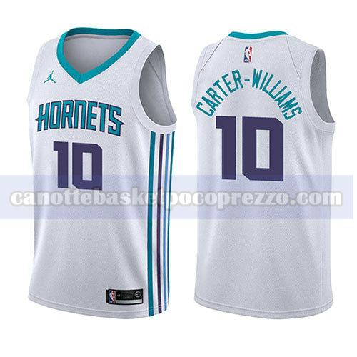 canotte charlotte hornets uomo associazione 2017-18 Michael Carter-Williams 10 bianco