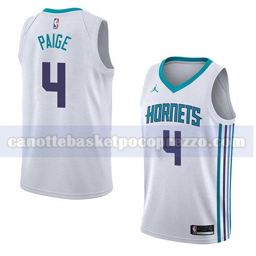 canotte charlotte hornets uomo associazione 2018 Marcus Paige 4 bianco