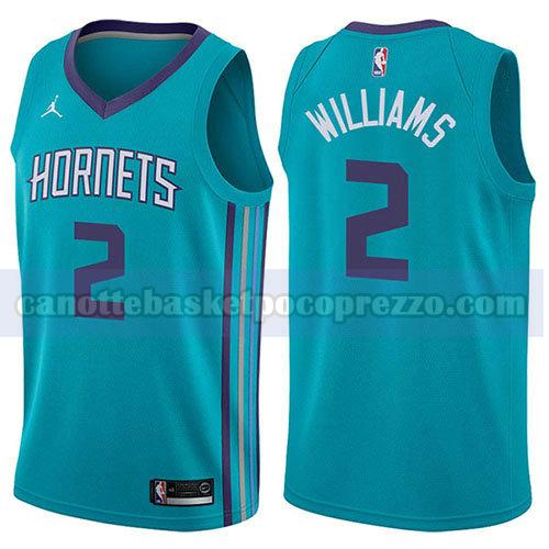 canotte charlotte hornets uomo icona 2017-18 Marvin Williams 2 verde