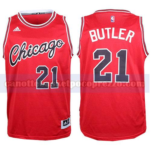 canotte chicago bulls uomo retro Jimmy Butler 21 rosso