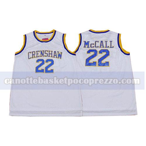 canotte crenshaw uomo Quincy McCall 22 bianco