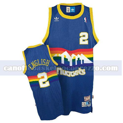 canotte denver nuggets uomo retro Alex English 2 blu