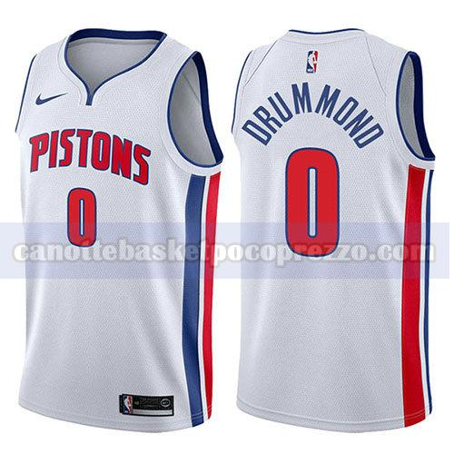 canotte detroit pistons uomo associazione 2017-18 Andre Drummond 0 bianco