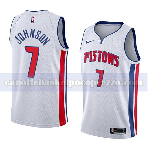 canotte detroit pistons uomo associazione 2018 Stanley Johnson 7 bianco