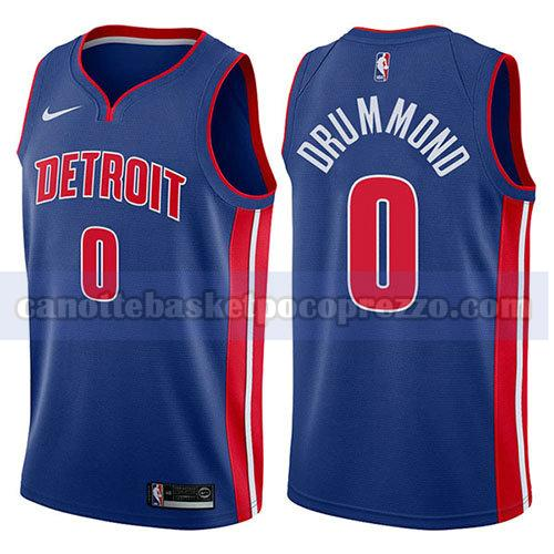 canotte detroit pistons uomo icona 2017-18 Andre Drummond 0 blu