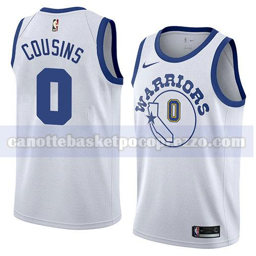 canotte golden state warriors uomo hardwood classic 2018-19 Demarcus Cousins 0 bianco