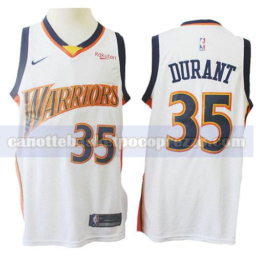 canotte golden state warriors uomo mitchell & ness Kevin Durant 35 bianco