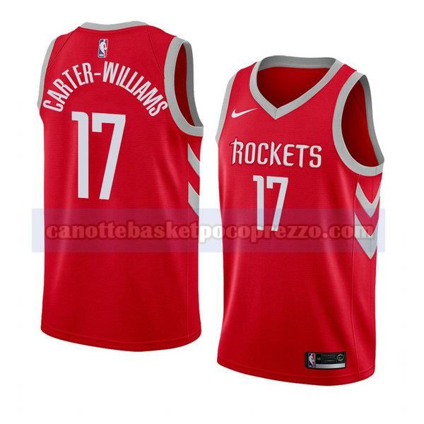 canotte houston rockets uomo icona 2018 Michael Carter-Williams 17 rosso