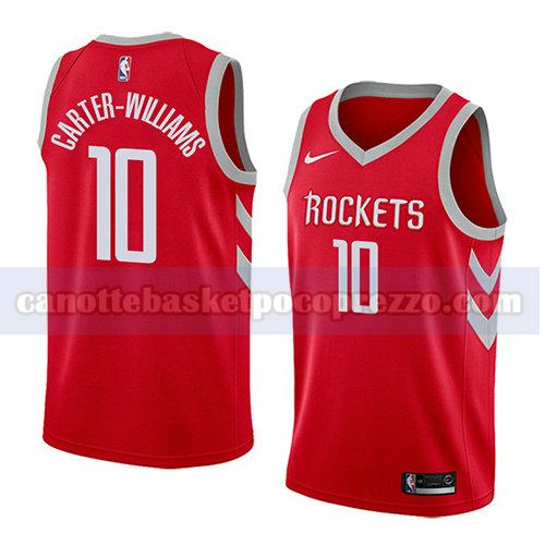 canotte houston rockets uomo icona 2018 Michael Carter-williams 10 rosso