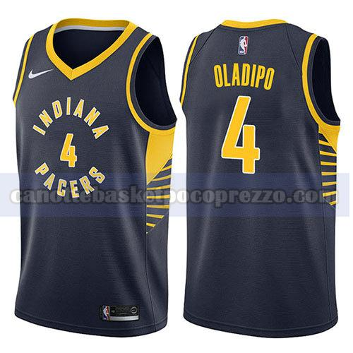 canotte indiana pacers uomo icona 2017-18 Victor Oladipo 4 blu