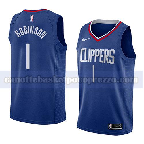 canotte los angeles clippers uomo icona 2018 Jerome Robinson 1 blu