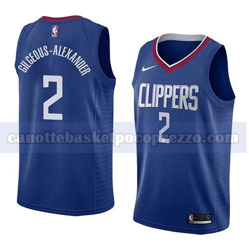 canotte los angeles clippers uomo icona 2018 Shai Gilgeous-Alexander 2 blu