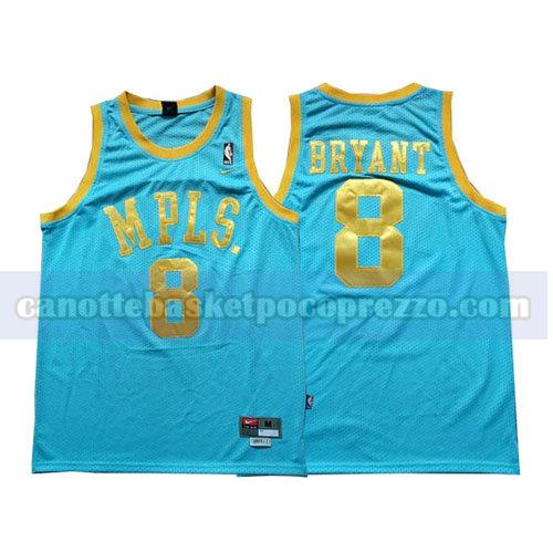 canotte los angeles lakers uomo Kobe Bryant 8 blu