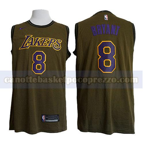 canotte los angeles lakers uomo Kobe Bryant 8 verde