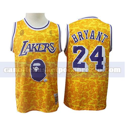 canotte los angeles lakers uomo mitchell & ness Kobe Bryant 24 giallo