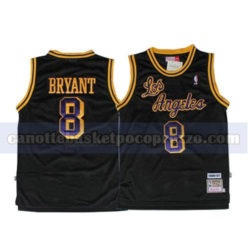 canotte los angeles lakers uomo retro Kobe Bryant 8 nero
