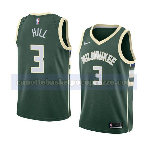 canotte milwaukee bucks uomo icona 2018 George Hill 3 verde