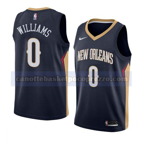 canotte new orleans pelicans uomo icona 2018 Troy Williams 0 blu