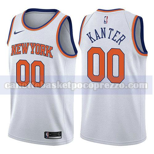 canotte new york knicks uomo associazione 2017-18 Enes Kanter 0 bianco