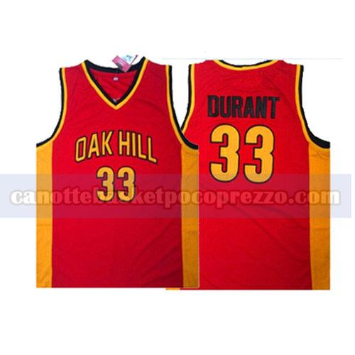 canotte oak hill uomo Kevin Durant 33 rosso