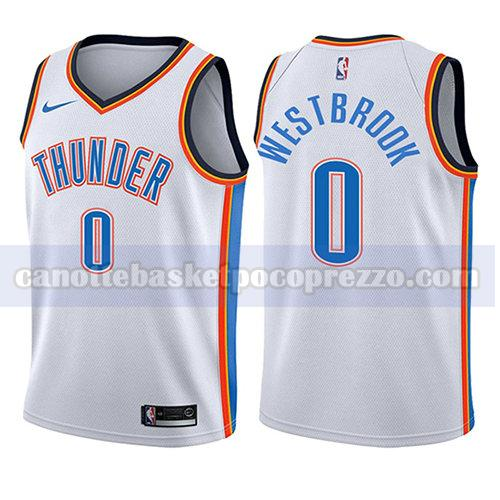 canotte oklahoma city thunder bambino associazione 2017-18 Russell Westbrook 0 bianco