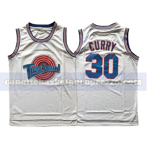 canotte tune squad uomo Stephen Curry 30 bianco