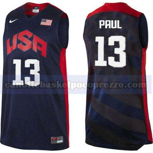 canotte usa 2012 uomo Chris Paul 13 nero