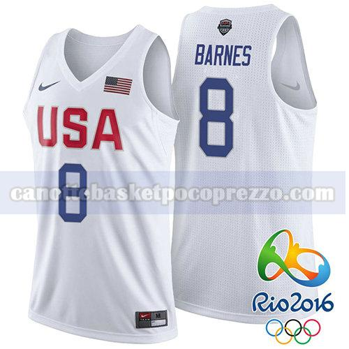 canotte usa 2016 uomo Jerry Stackhouse 8 bianco