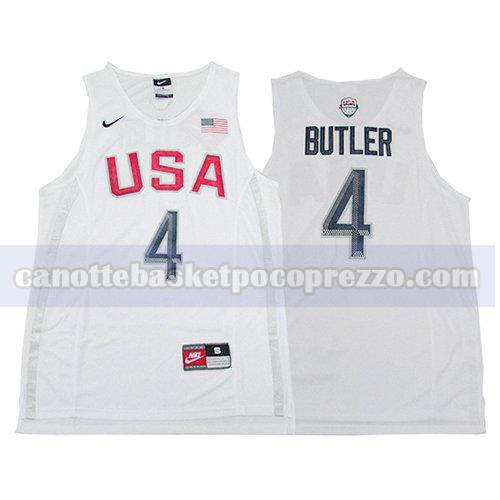 canotte usa 2016 uomo Jimmy Butler 4 bianco