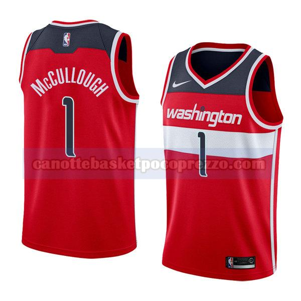 canotte washington wizards uomo icona 2018 Chris Mccullough 1 rosso