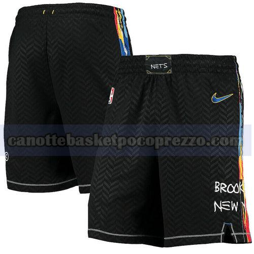 pantaloncini Brooklyn Nets Uomo 2020-21 City Edition Nero