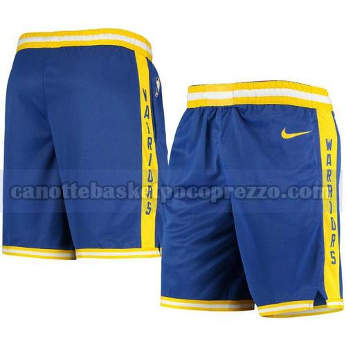 pantaloncini Golden State Warriors Uomo 2020-21 Blu