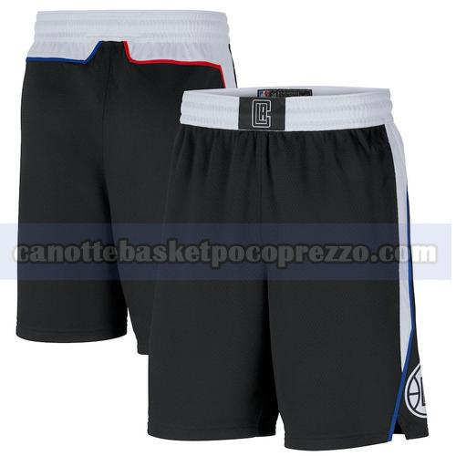 pantaloncini Los Angeles Clippers Uomo 2020-21 City Edition Nero