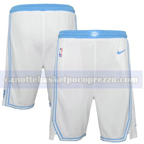 pantaloncini Los Angeles Lakers city Uomo 2020-21 City Edition Bianco
