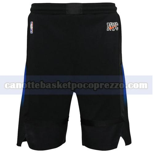 pantaloncini New York Knicks Uomo 2020-21 City Edition Nero