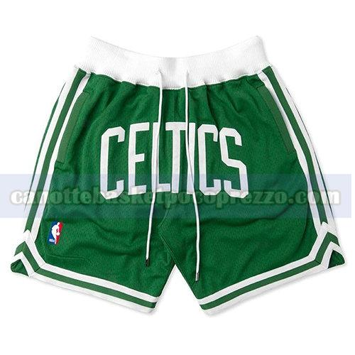 pantaloncini boston celtics uomo just don verde