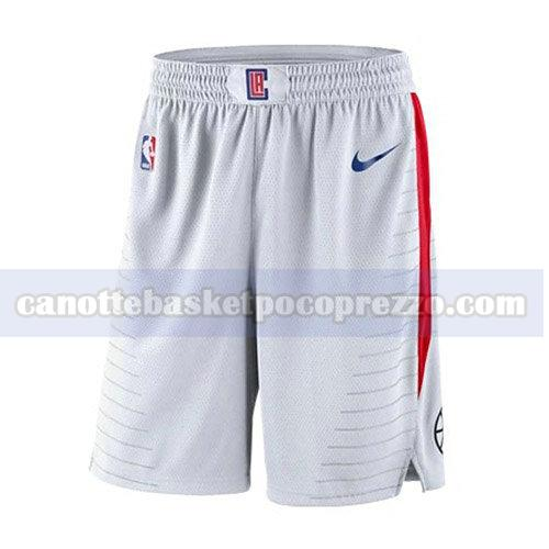 pantaloncini los angeles clippers uomo associazione 2018 bianco